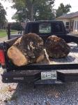 Raw logs intruck