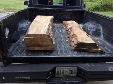 Slabs in truck
